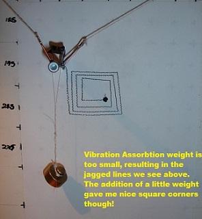 V-plotter Square Spiral drawing